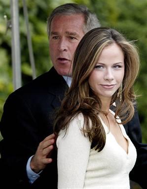 President bush daughter upskirt