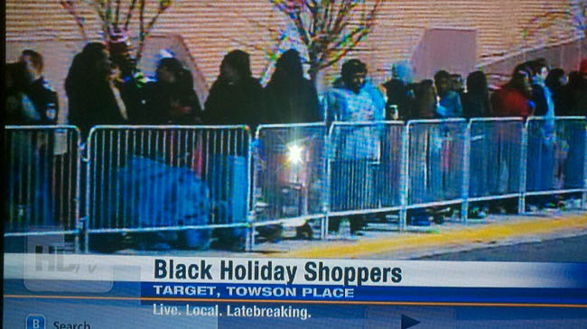 black holiday shoppers