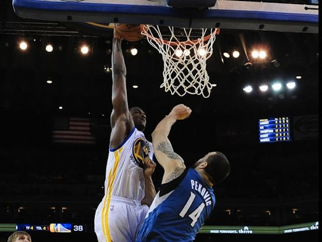 harrison barnes dunks on nicola pekovic