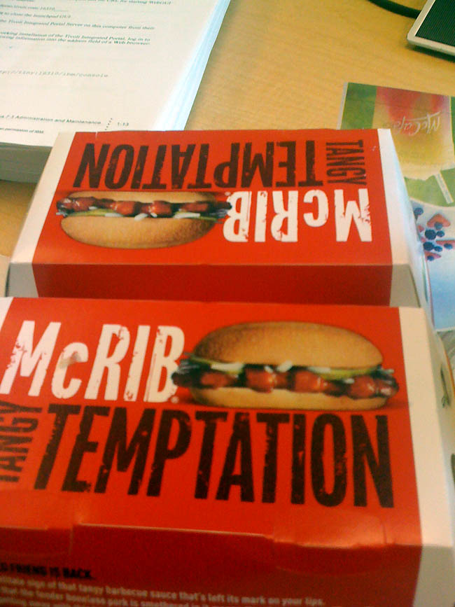 The McRib is served.