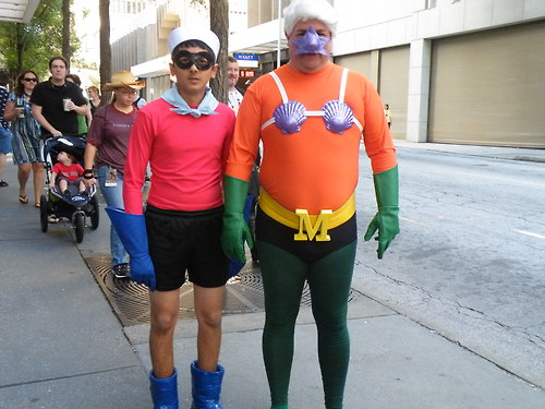 mermaid man and barnacle boy costume