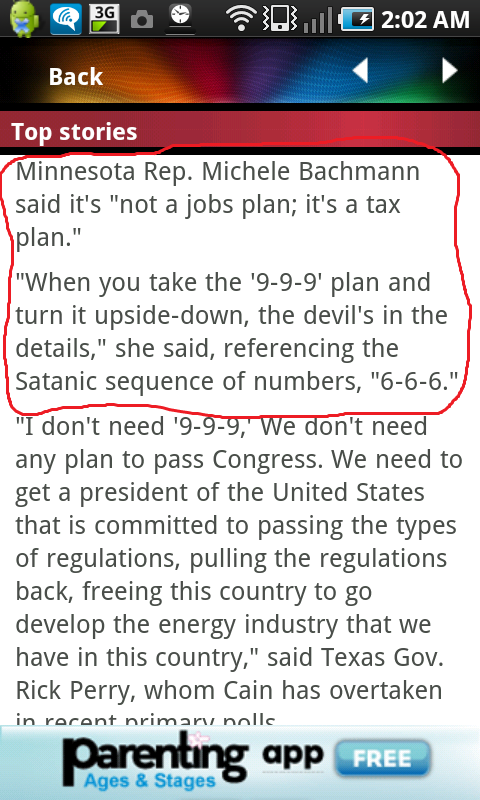 michelle bachmann is the devil