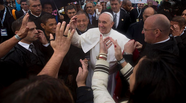 pope francis high five
