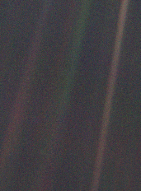 Pale Blue Dot by Voyager 1